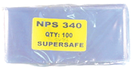 Supersafe NPS340 Modern Note Currency Sleeves - 100 Pack 3x6 1/2