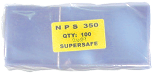Supersafe NPS350 Large Note Currency Sleeves - 100 pack 3 1/2x8 Supersafe NPS350 Large Currency Sleeves 100 pack, Supersafe, NPS350