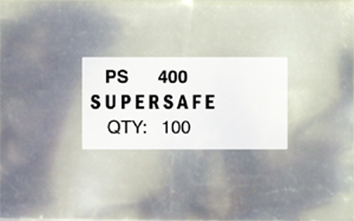 Supersafe PS400 Sleeves 100 pack 3 3/4x6 1/4