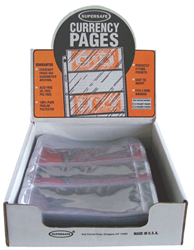 Supersafe 4 Pocket Pages  - Box 100 Supersafe NV4 Modern 4 Pocket Currency Pages 100 pack, Supersafe, NV4