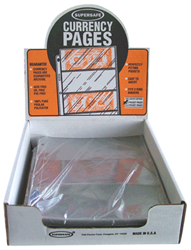 Supersafe 3 Pocket Archival Currency Pages - Box 100 Supersafe NP300 3 Pocket Archival Currency Pages 100 Pack, Supersafe, NP300