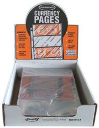 Supersafe 4 Pocket Archival Pages - Box 100 Supersafe NP400 4 Pocket Archival Currency Pages 100 Pack, Supersafe, NP400