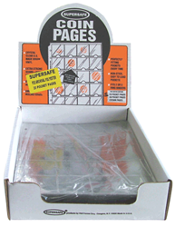 Supersafe 20 Pocket Archival Pages For 2x2 Coin Flips - Box 100 20 Pocket Pages , Supersafe, P20