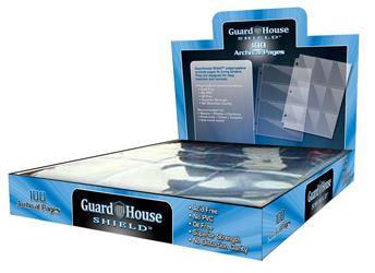 Guardhouse 20 Pocket Polypropylene Archival Pages - 100 pack