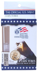 HE Harris & Co S.B.A. and Sacagawea Dollar Round Coin Tubes - 4 pack