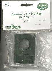 27 mm Premier Coin Slab 3.25 x 2.5 Inch 27 mm Premier Coin Slab 3.25 x 2.5 Inch, Guardhouse, CH18