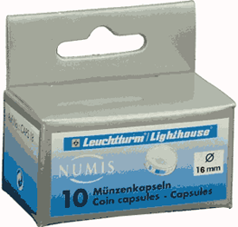 16mm - Coin Capsules  16mm