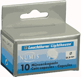 21.5mm - Coin Capsules  21.5mm - Nickel