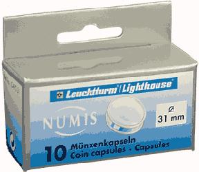 31mm - Coin Capsules  31mm - Half Dollar