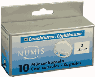 38mm - Coin Capsules  38mm - Lg. Dollar