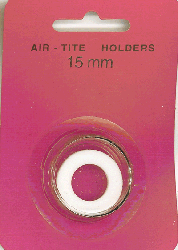 15mm Ring Fit Air Tite Coin Capsule - White 15mm Ring Fit Air Tite Coin Capsule White, Air Tite, Model A