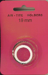 19mm Ring Fit Air Tite Coin Capsule - White 19mm Ring Fit Air Tite Coin Capsule White, Air Tite, Model A