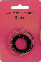 21mm Ring Fit Air Tite Coin Capsule - Black 21mm Ring Fit Air Tite Coin Capsule Black, Air Tite, Model T