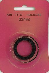 23mm Ring Fit Air Tite Coin Capsule - Black 23mm Ring Fit Air Tite Coin Capsule Black, Air Tite, Model T