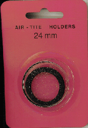 24mm Ring Fit Air Tite Coin Capsule - Black 24mm Ring Fit Air Tite Coin Capsule Black, Air Tite, Model T
