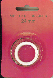 24mm Ring Fit Air Tite Coin Capsule - White 24mm Ring Fit Air Tite Coin Capsule White, Air Tite, Model T