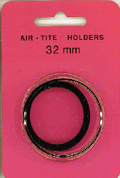 32mm Ring Fit Air Tite Coin Capsule - Black 32mm Ring Fit Air Tite Coin Capsule Black, Air Tite, Model H