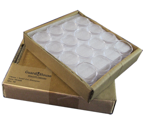 Guardhouse Silver Round Coin Capsules - 50 Piece Pack