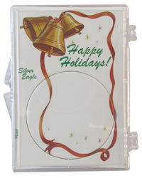 American Silver Eagle Happy Holidays Gift Case ASE, Happy Holidays Ribbon and Bells, SN271