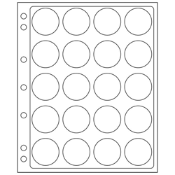 ENCAP Clear Model H Coin Capsule Pages ENCAP, Clear, Model H, Coin Capsule Pages, ENCAP38/39