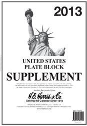 Plate Block Supplement 2013 Plate Block Supplement, 2013, 0794842496
