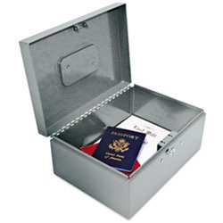 Heavy-Duty Locking Security Box Heavy-Duty Locking Security Box, 221F92GRA