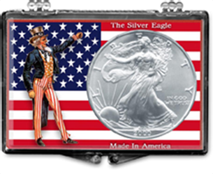 Uncle Sam with US Flag- American Silver Eagle Uncle Sam with US Flag- American Silver Eagle, SN201