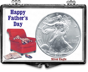 Fathers Day Dog on Recliner- American Silver Eagle Fathers Day Dog on Recliner- American Silver Eagle, SN251