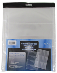 Guardhouse 4 Pocket Archival Polypropylene Pages - Pack 10 Guardhouse Shield 4 Pocket Archival 10 pack Polypropylene Pages, 13964032055