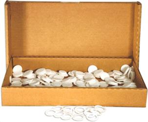 20mm Air Tite White Rings - Bulk Pack 250 20mm Rings - Bulk, Model T