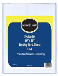 Trading Card Sheet Toploader - 30x40 Trading Card Sheet Toploader - 30x40, Toploaders, Poster toploaders, guardhouse toploader