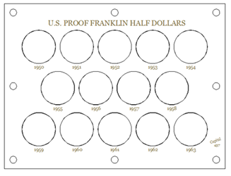U.S. Proof Franklin Half Dollars U.S. Proof, Franklin Half Dollars, 457white