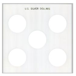 Capital Plastics U.S. Silver Dollars Capital Plastics ,U.S. Silver Dollars, GX28A WHITE