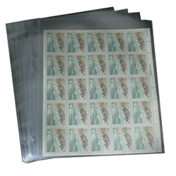 1 Pocket Mint Sheet Archival Polypropylene Pages, Clear