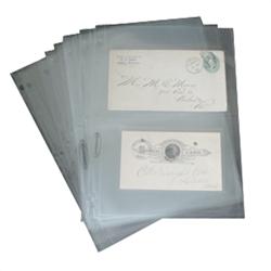 Supersafe 2 Pocket Archival Polypropylene Pages, Clear 2 Pocket, Archival, Polypropylene, Pages, Clear, 202c