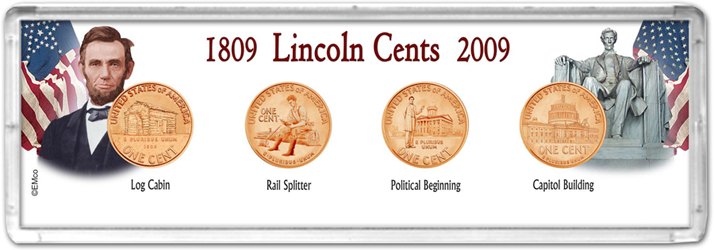 EM Snap-Tite Set 4 hole Lincoln Cent