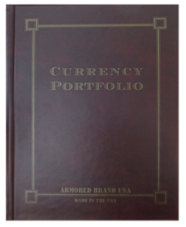 Currency Portfolio for Modern & Large Notes - Burgundy Currency Portfolio, Large Notes- Burgundy, Burgundy