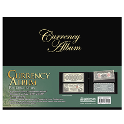 Whitman Currency Album For Large Notes