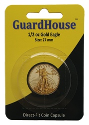1/2 oz American Gold Eagle Direct Fit Guardhouse Capsule - Retail Card