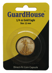 1/4 oz American Gold Eagle Direct Fit Guardhouse Capsule - Retail Card