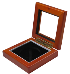 Guardhouse Glass-top Wood Display Box - Holds Large Sized Capsule