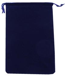 Velvet Drawstring Pouch - 5x7.5 Navy Blue