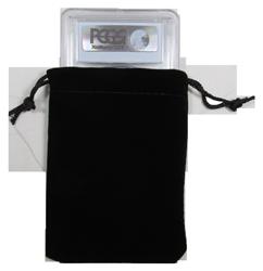 Velvet Drawstring Pouch - 3x4.25 Black