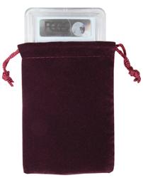 Velvet Drawstring Pouch - 3x4.25 Maroon