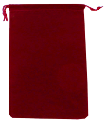Velvet Drawstring Pouch - 5x7.5 Red