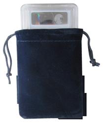 Velvet Drawstring Pouch - 3x4.25 Navy Blue