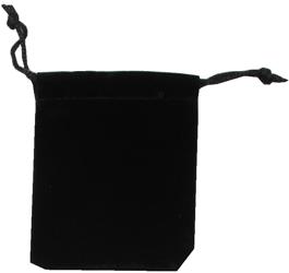 Velvet Drawstring Pouch - 2.75x3.25 Black