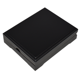 Universal Wood Display Box - 1 Slab (Matte Black)