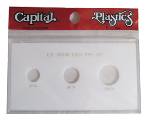 Capital Plastics United States Indian Gold Type Set - White