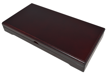 Universal Wood Display Box - 3 Slabs - Dark Mahogany